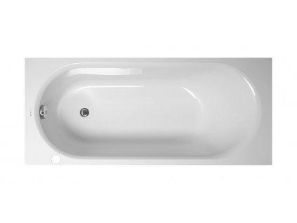 Vagnerplast Kasandra BJ 160 x 70 cm vana levá s otvorem pro otočné umyvadlo  + Nohy k vaně ZDARMA