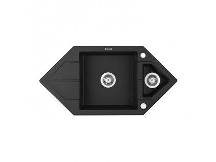 A-Interiéry Passau G653 kuchyňský dřez 99,5 x 50 cm granitový grafit