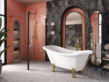 Hopa Merano 160 x 77 cm vana volně stojící černá - bílá