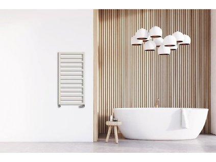 Hopa Poppy 400 x 1310 mm koupelnový radiátor bílý
