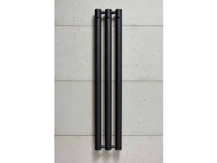 PMH Rosendal massive 292 x 1500 mm R70/3B koupelnový radiátor černý