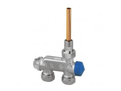 """Heimeier ventil E-Z DN 15 (1/2"""") pro dvoutrubkové otopné soustavy přímé provedení 3878-02.000"""