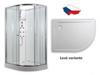 Arttec  SIRIUS - masážní sprchový box model 4 chinchila levá PAN04555