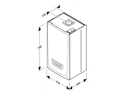 Kondenzační kotel závěsný Protherm Panther Condens 24/25 KKV -A s ohřevem