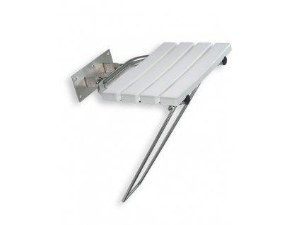 Novaservis R6699,44 sedačka / sedátko 45 x 44 cm do sprchy sklopné bílé / nerez