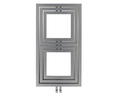 Sapho Libra Dual otopné těleso 600 x 1110 mm stříbrná strukturální L-611S