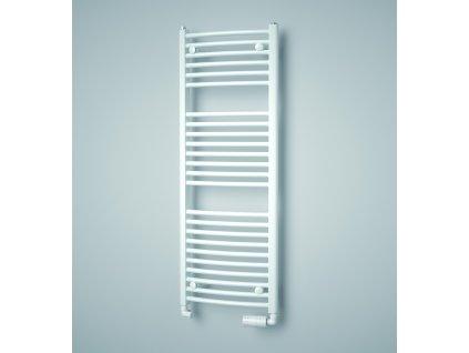 Isan Grenada Radius 1135 x 450 mm koupelnový radiátor bílý