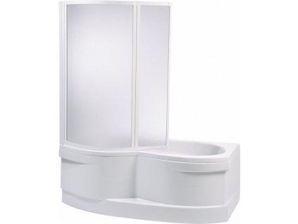 Teiko vanová zástěna dvoudílná 110 x 135 cm VZKO 2/110 P polystyrol pearl 1100 x 1350 mm