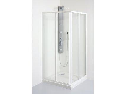 Teiko sprchový kout čtvercový STANDARD 90 x 90 x 185 cm SKRH 2/90 polystyrol pearl 900 x 900 x 1850 mm