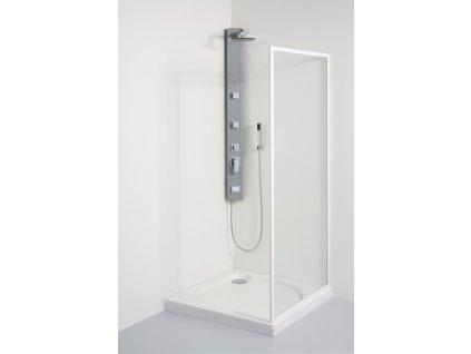 Teiko boční sprchová stěna pevná  90 x 185 cm BSSP 90 polystyrol pearl 900 x 1850 mm
