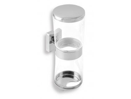 Novaservis Metalia 12 0282.0 zásobník kosmetických tamponů a vatových tyčinek sklo / chrom
