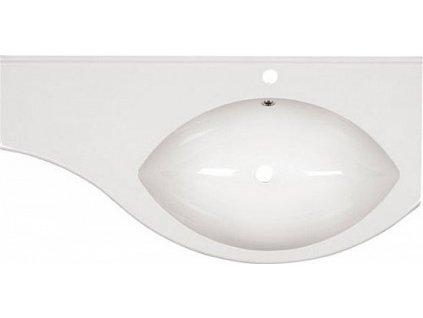 Sapho Isobel 55601 umyvadlo s odkládací plochou vlevo 110 x 55 cm