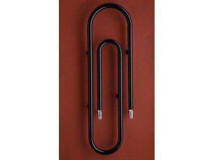 PMH Clip 1250 x 373 mm CL1B koupelnový radiátor černý lak