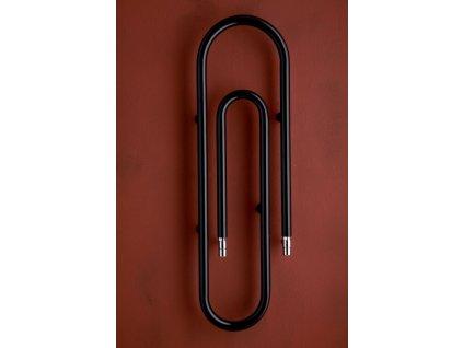PMH Clip 1700 x 373 mm CL2B koupelnový radiátor černý lak