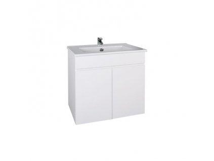 A-interiéry Slim W 60 skříňka s keramickým umyvadlem 61 x 50 x 46 cm závěsná