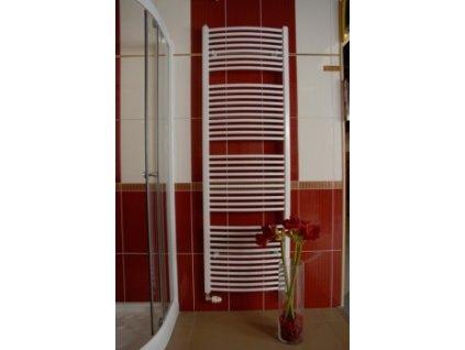 Thermal Trend KDO 600 / 1320 koupelnový radiátor žebřík oblý středové připojení