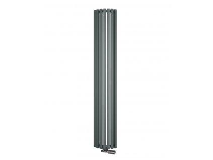 Isan Octava Radius 1800 x 295 mm koupelnový radiátor bílý