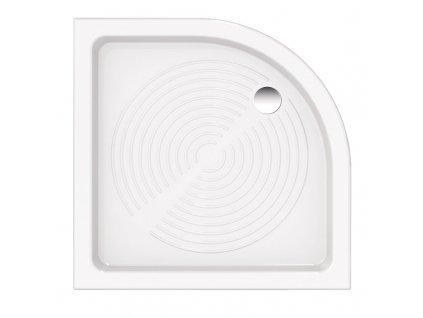 Hopa Elara 80 x 80 x 11,5 cm sprchová vanička čtvrtkruhová keramická