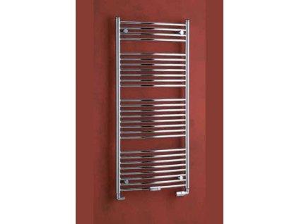PMH Danby 450 x 1290 mm D4B koupelnový radiátor černá lesk