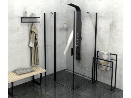 Polysan ZOOM LINE BLACK 110 x 100 cm ZL1311BZL3210B sprchový kout