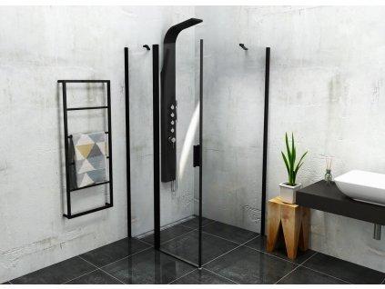 Polysan ZOOM LINE BLACK 100 x 100 cm ZL1310BZL3210B sprchový kout