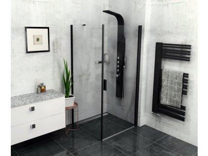 Polysan ZOOM LINE BLACK 90 x 80 cm ZL1290BZL3280B sprchový kout