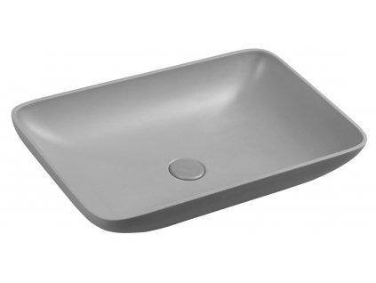 Sapho INFRANE 57 x 37 cm AR462 umyvadlo betonové šedé