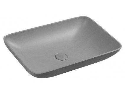 Sapho INFRANE 57 x 37 cm AR461 umyvadlo betonové šedé žíhané