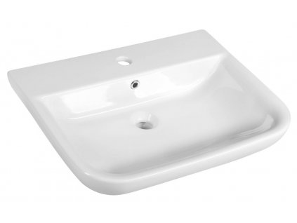 Aqualine DORI 60 x 48 cm FS1B1 keramické umyvadlo bílá