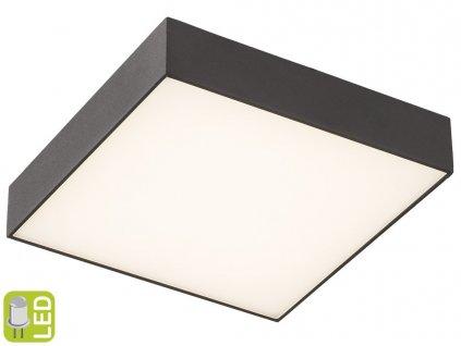 Sapho RISA 30 x 5,5 x 30 cm LS030C stropní LED svítidlo černé