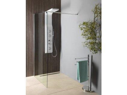 Aqualine Walk-in 100 x 190 cm WI101 zástěna jednodílná