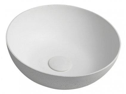 Sapho FORMIGO průměr 39 cm FG031 umyvadlo přírodní bílá