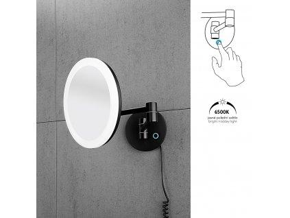 Nimco ZK 20265-90 kosmetické LED zrcátko podsvícené černé