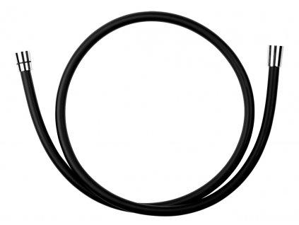 Novaservis BLACK/150,5 Sprchová hadice plastová 150 cm černá