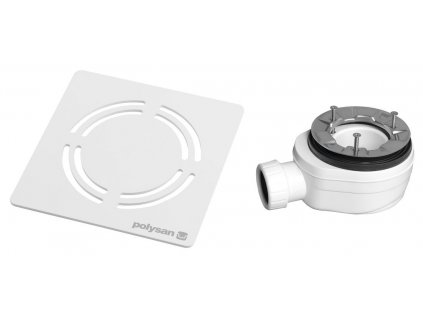 Polysan FLEXIA vaničkový sifon průměr 90 mm DN40 krytka bílá 10372