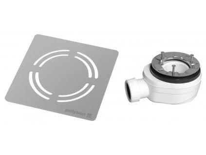 Polysan FLEXIA vaničkový sifon průměr 90 mm DN40 krytka nerez 10362