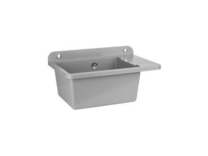 Zelvo COMPACT 50 x 34 x 18 cm plastový dřez / výlevka šedý granit