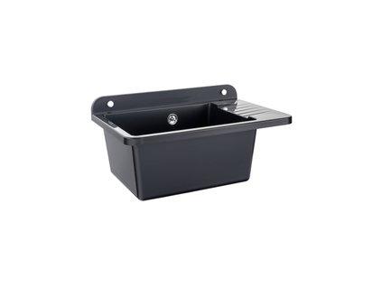 Zelvo COMPACT 50 x 34 x 18 cm plastový dřez / výlevka černý granit
