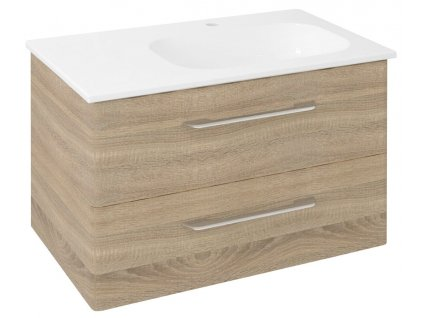Sapho PURA 77 x 50,5 x 48,5 cm PR088 umyvadlová skříňka pravá dub starmood