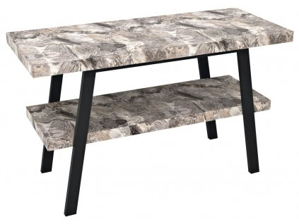 Sapho TWIGA 110 x 72 x 50 cm VC453-110-10 umyvadlový stolek černá mat/šedý kámen