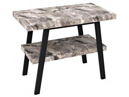 Sapho TWIGA 100 x 72 x 50 cm VC442-100-10 umyvadlový stolek černá mat/šedý kámen
