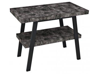 Sapho TWIGA 100 x 72 x 50 cm VC442-100-9 umyvadlový stolek černá mat/štípaný kámen