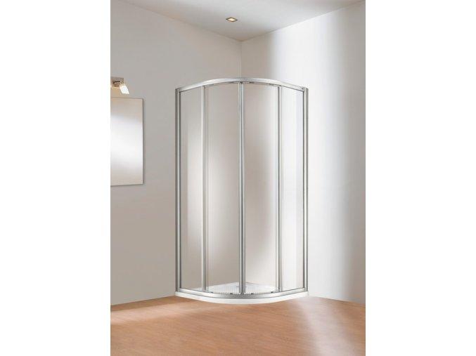 Huppe 501 Design 1900x900 mm, čiré, elox, 503400042321