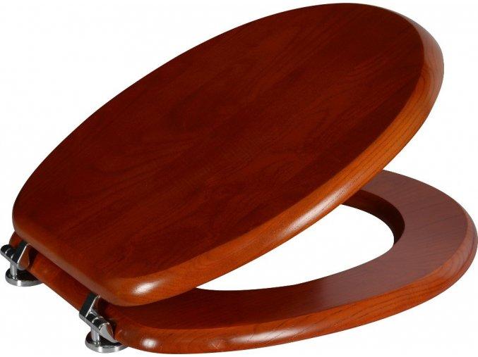Aqualine S-WC Masiv WC sedátko z masivního dřeva, 37,5x44 cm, 1074