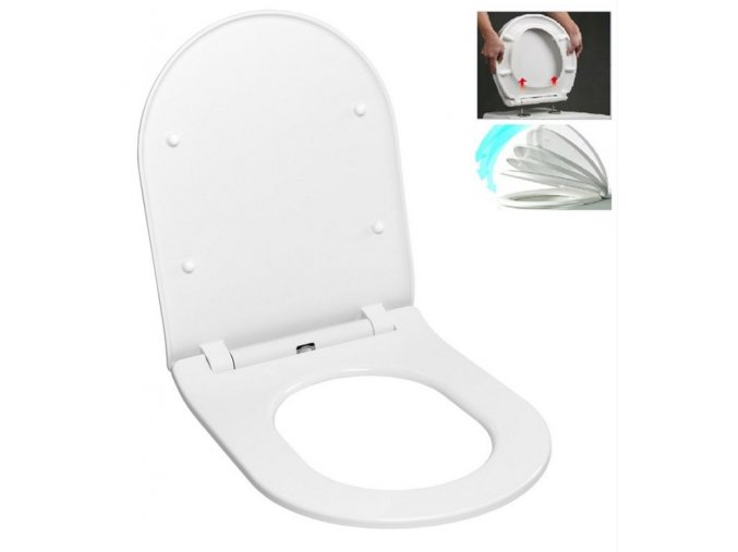 Glacera EASYSLIM44 WC sedátko, soft close, slim