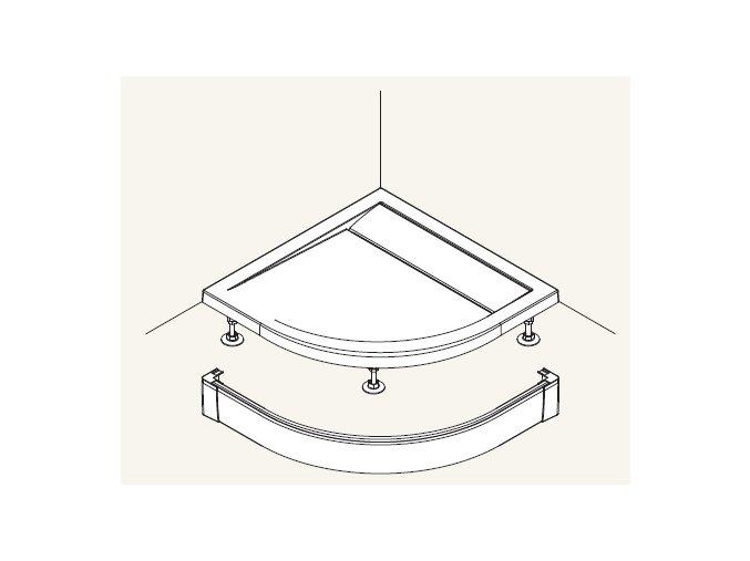 SanSwiss PWIR 55 090 04 Přední panel hliníkový, 90×90 cm