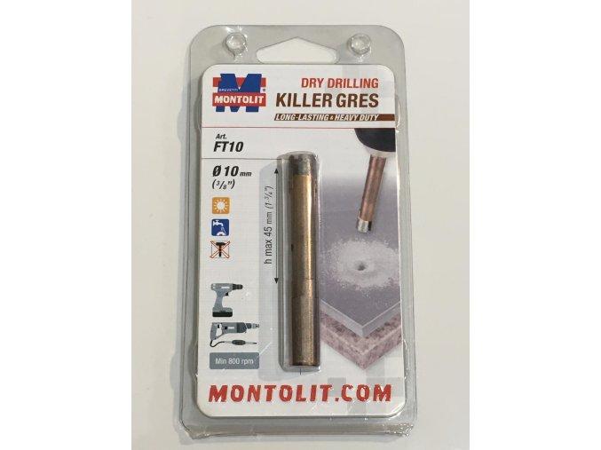Montolit KILLER FT10 Diamantová korunka, suché vrtání, Ø10mm
