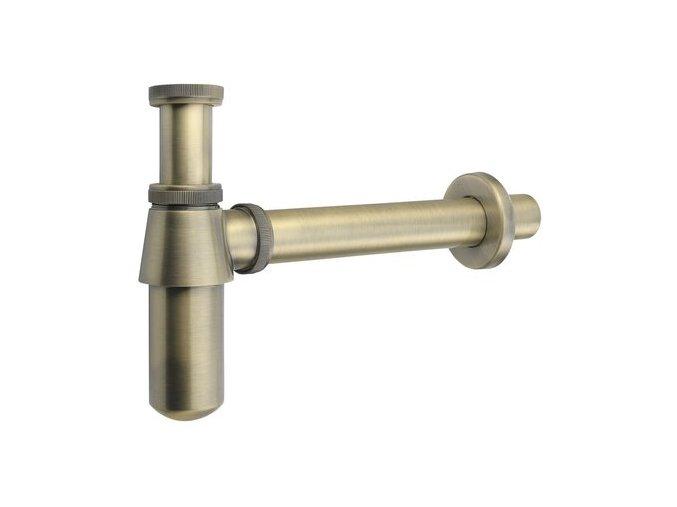 Sapho RETRO 9696 Umyvadlový sifon 1'1:4, odpad 35 mm,bronz