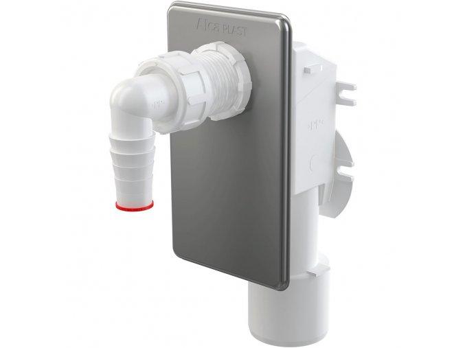 AlcaPlast APS3 Sifon pračkový podomítkový, nerez