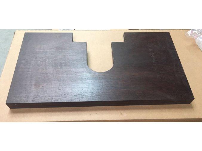 Lebon Deska pod umyvadlo 90x50cm, dub wenge